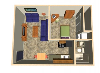 450 sq. ft. Morrison floor plan