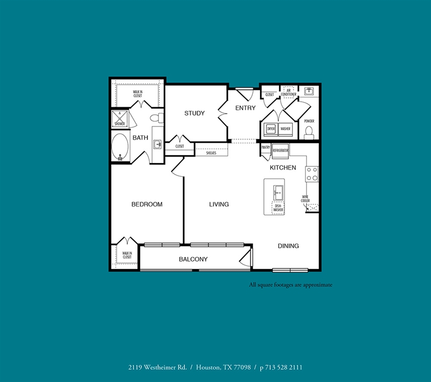 1,076 sq. ft. A11 floor plan