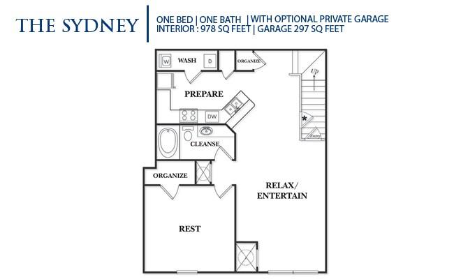 978 sq. ft. A2UG-Sydney floor plan
