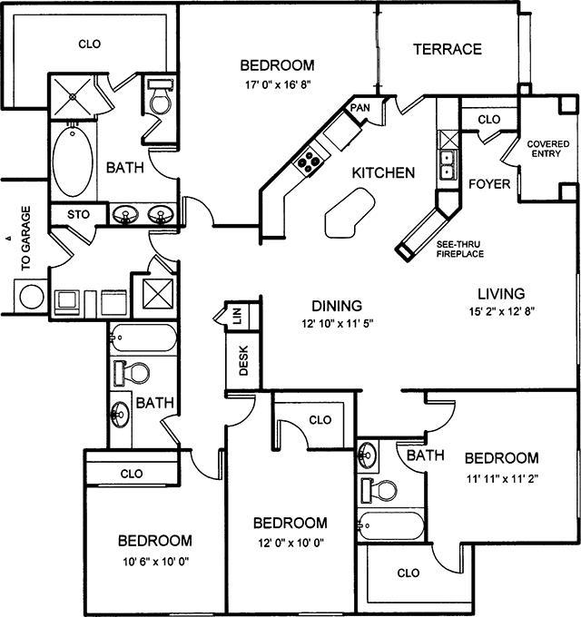 1,829 sq. ft. floor plan