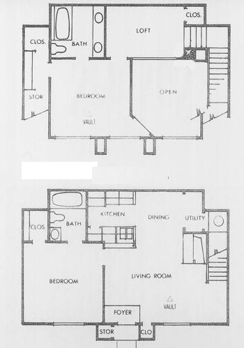 1,044 sq. ft. P floor plan
