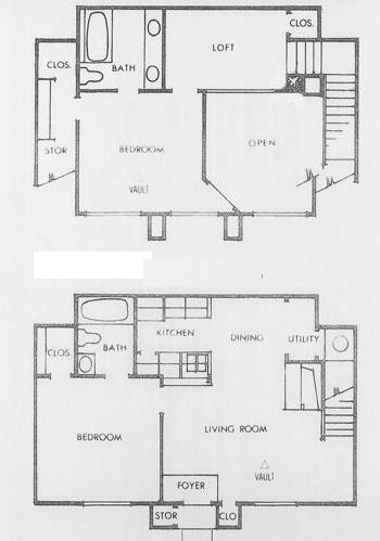 1,044 sq. ft. P floor plan