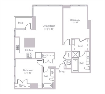 1,246 sq. ft. floor plan