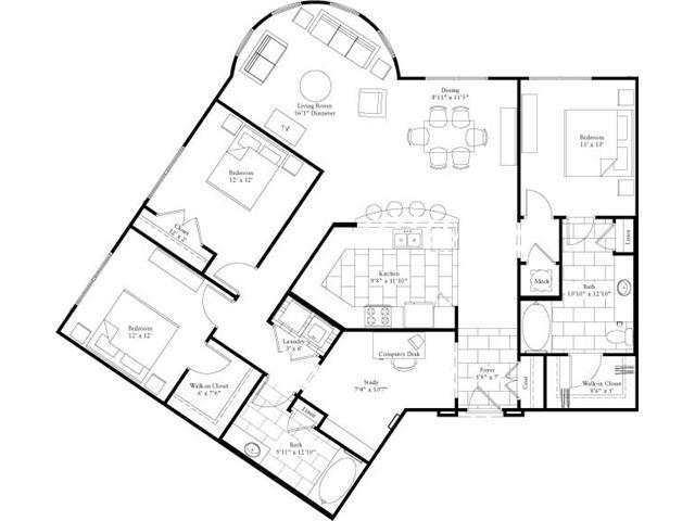 1,745 sq. ft. floor plan