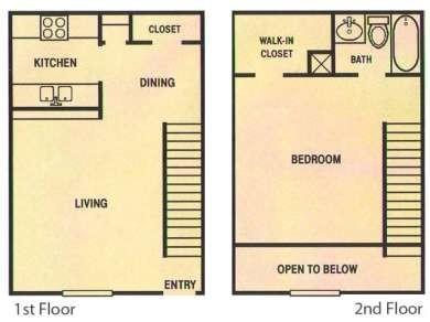 791 sq. ft. floor plan