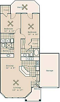 1,235 sq. ft. B4 GAR. floor plan