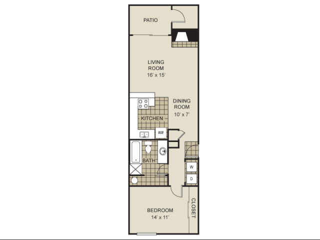 745 sq. ft. A8-C floor plan