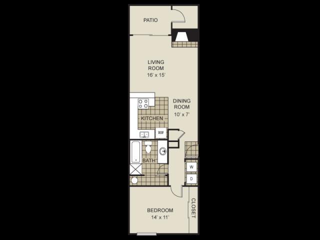 745 sq. ft. A8-C floor plan