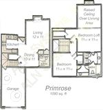967 sq. ft. Daisy floor plan