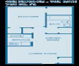 790 sq. ft. floor plan