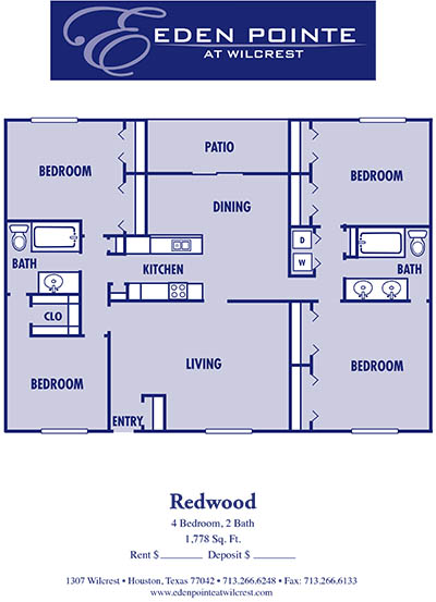 1,778 sq. ft. D-Redwood floor plan