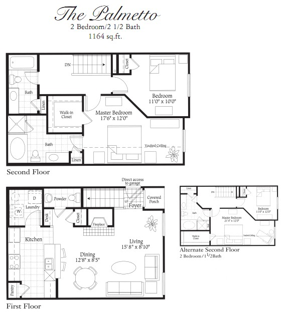 1,164 sq. ft. B1A floor plan