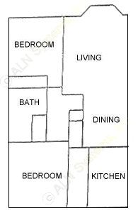 998 sq. ft. floor plan