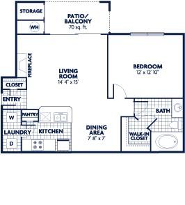 692 sq. ft. Columbus floor plan