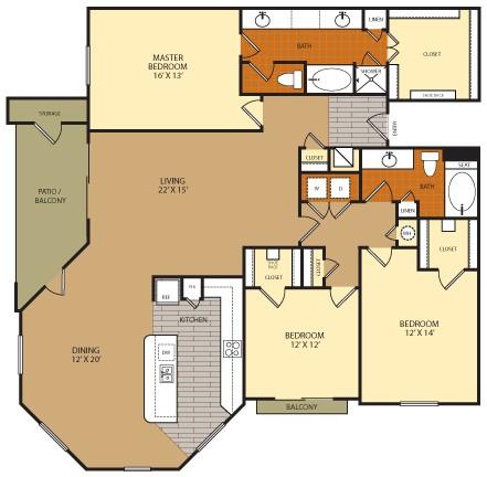 1,947 sq. ft. C2A floor plan