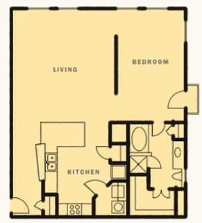 1,104 sq. ft. Interurban floor plan