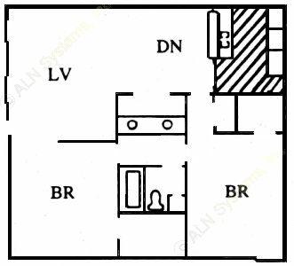 978 sq. ft. I floor plan