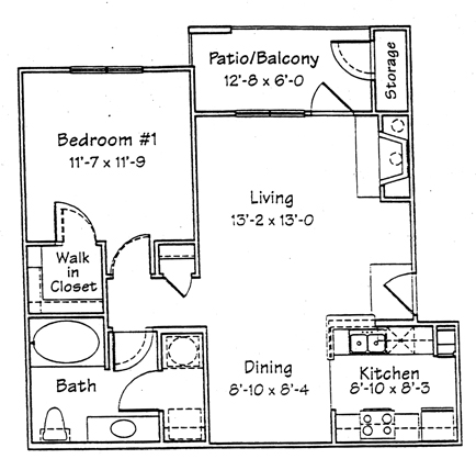 737 sq. ft. A2F floor plan