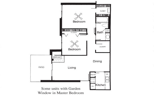 824 sq. ft. C floor plan