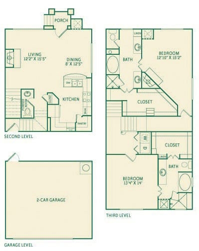 2,199 sq. ft. B3 floor plan