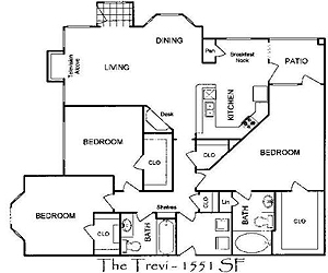 1,500 sq. ft. Trevi floor plan