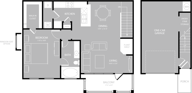 903 sq. ft. Falsetto floor plan