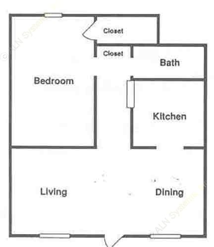 750 sq. ft. ABP floor plan