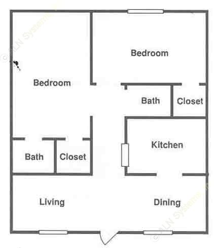 900 sq. ft. ABP floor plan