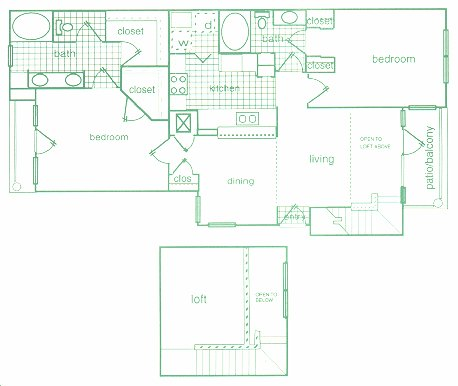 1,390 sq. ft. F floor plan