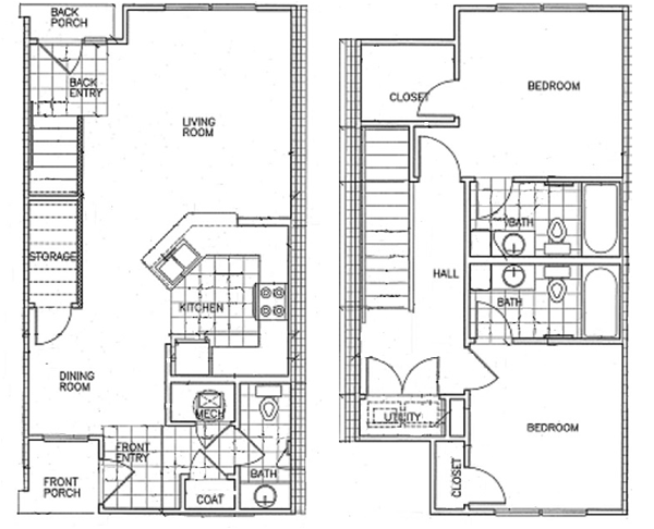 1,202 sq. ft. 30% floor plan
