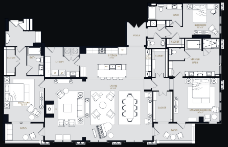 3,282 sq. ft. PH2 floor plan