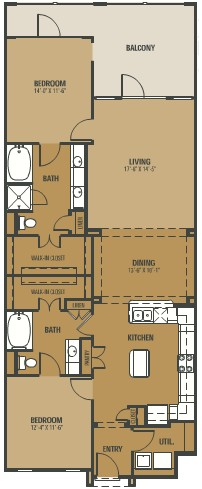 1,406 sq. ft. Paradiso floor plan