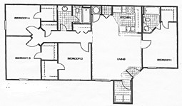 1,395 sq. ft. 60% floor plan