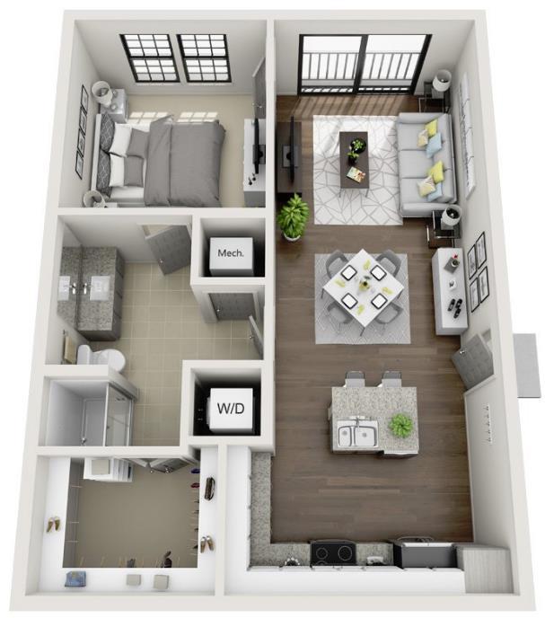 768 sq. ft. A4.1 floor plan