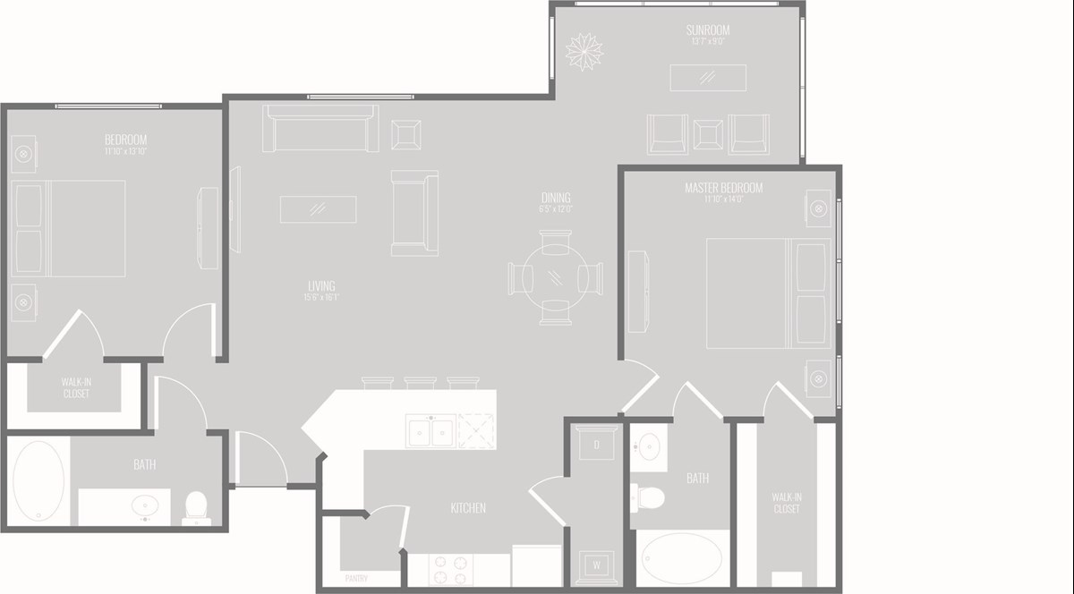 1,408 sq. ft. Tranquil floor plan
