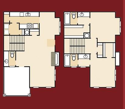 1,470 sq. ft. B4PA floor plan