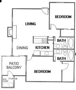 921 sq. ft. G floor plan