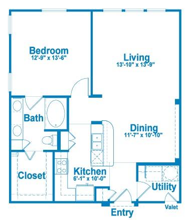 903 sq. ft. A4.1 floor plan