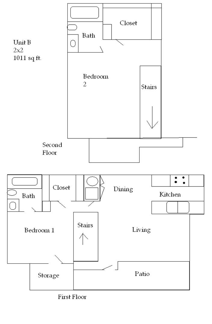 1,011 sq. ft. 50 floor plan