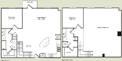 1,442 sq. ft. B4L floor plan