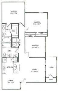 1,261 sq. ft. Goose Creek floor plan