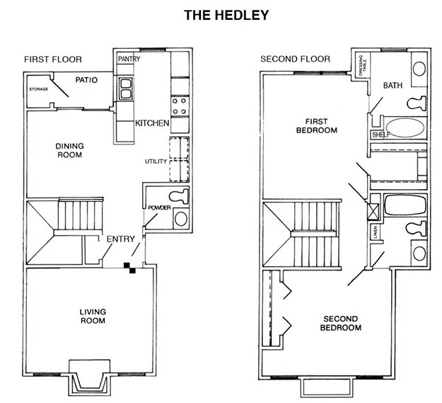 1,237 sq. ft. H floor plan