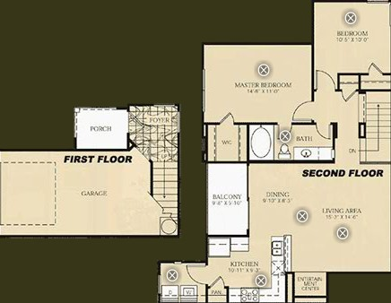 1,075 sq. ft. B2 - GAUGUIN floor plan