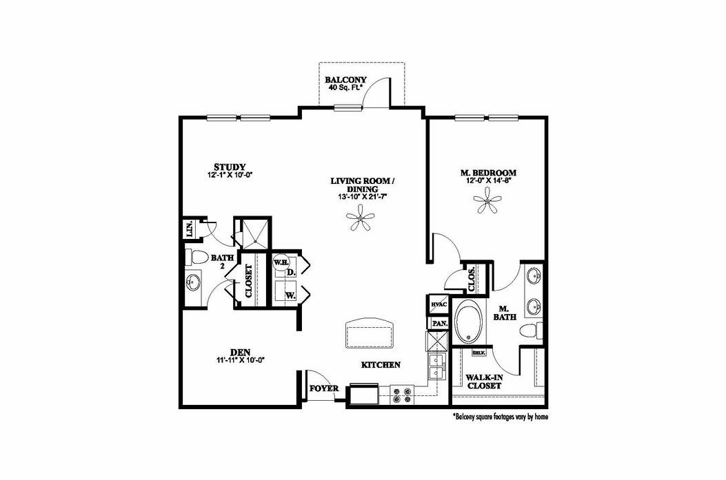 1,188 sq. ft. B1 floor plan