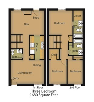 1,680 sq. ft. Sequioa floor plan