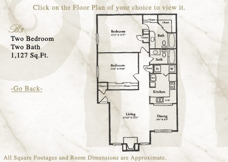 1,127 sq. ft. B3 floor plan