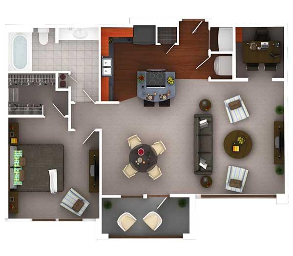 914 sq. ft. Ag9 floor plan
