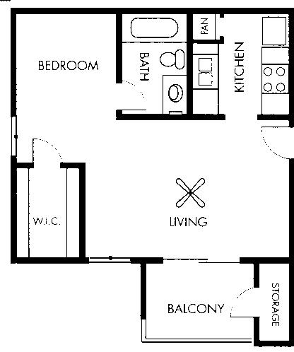440 sq. ft. Matisse floor plan