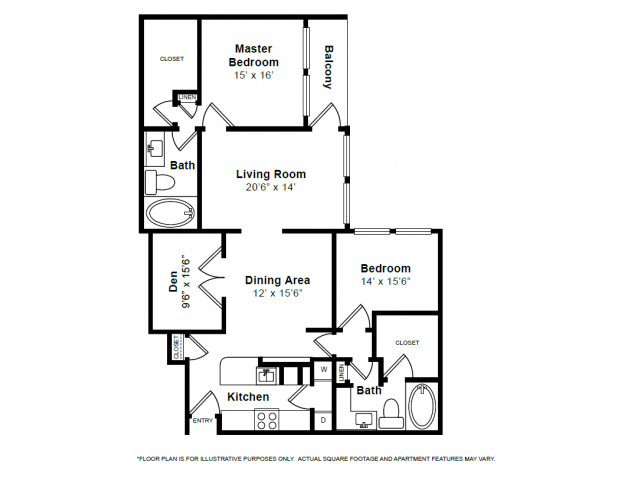 1,886 sq. ft. B8 floor plan
