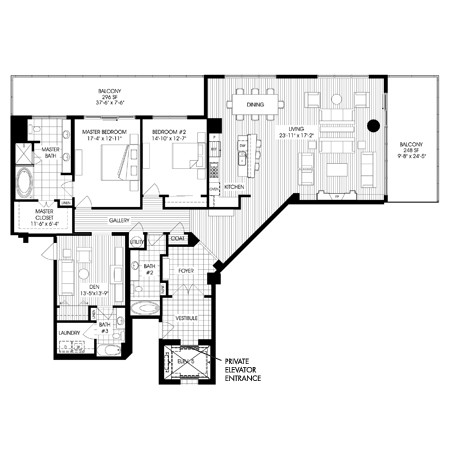 2,620 sq. ft. B10 floor plan